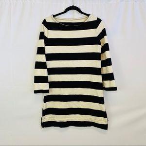 J Crew Women's Zipper Side Stripped Dress Size S